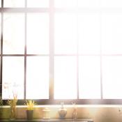 Sunlight through windows