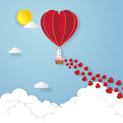 Valentine's Day hot air balloon